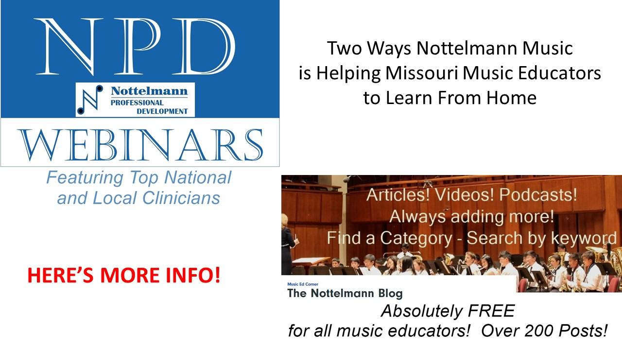 Helping Music Educators Two Ways
