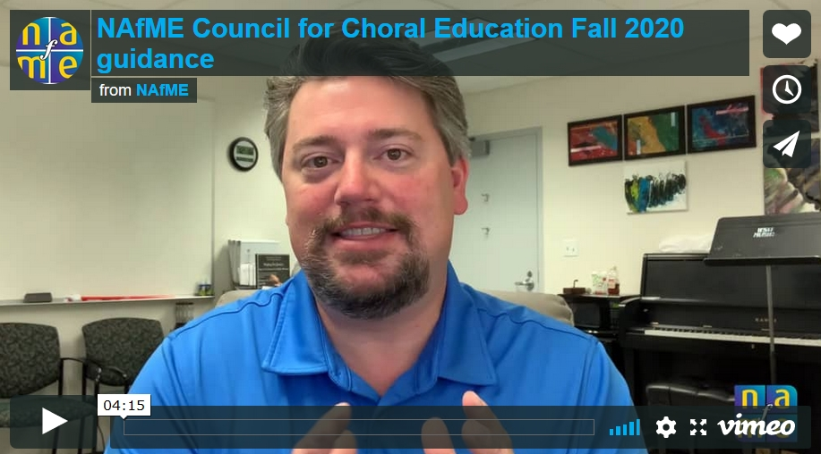 Guidance for Choral Instruction This Fall