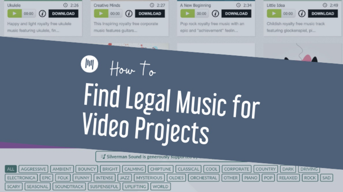 How To Find Legal Music For Video Projects